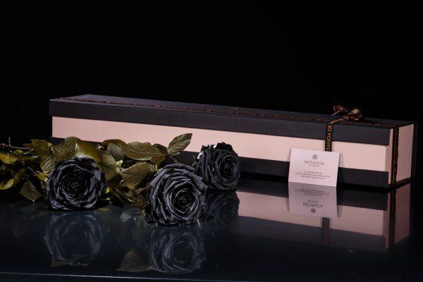 Luxury Set of Black Roses